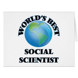 El mejor científico social del mundo tarjetas