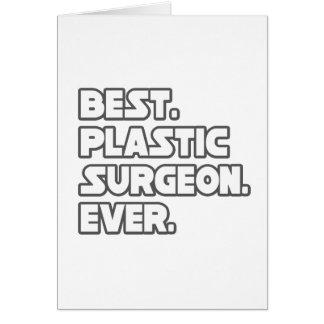 El mejor cirujano plástico nunca tarjeta de felicitación