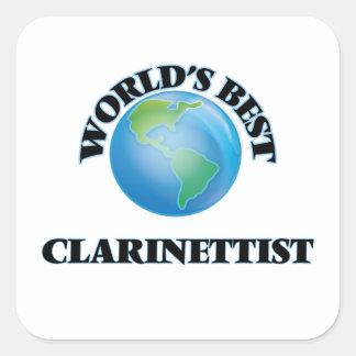 El mejor clarinetista del mundo pegatina cuadrada