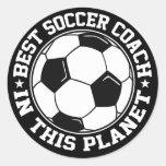El mejor coche del fútbol pegatinas redondas