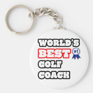 El mejor coche del golf del mundo llavero redondo tipo pin