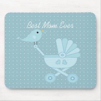 El mejor cochecito de niño siempre azul del bebé d alfombrillas de raton