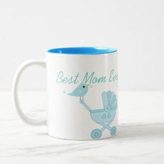 El mejor cochecito de niño siempre azul del bebé taza de dos tonos