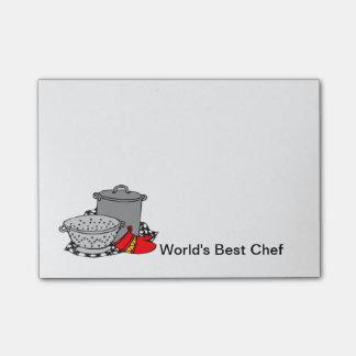 El mejor cocinero del mundo nota post-it®