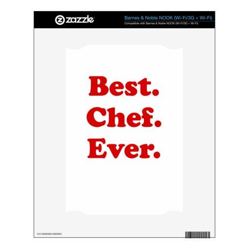 El mejor cocinero nunca calcomanías para NOOK