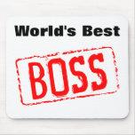 El mejor cojín de ratón de Boss del mundo Tapete De Ratones