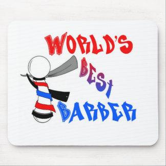 El mejor cojín de ratón del peluquero del mundo alfombrillas de ratón