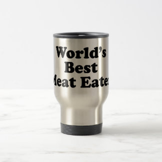 El mejor comedor de la carne del mundo taza de viaje