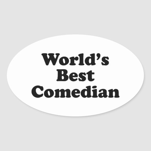 El mejor cómico del mundo pegatina ovalada