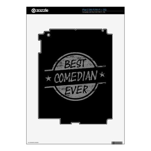 El mejor cómico siempre gris calcomanías para iPad 2