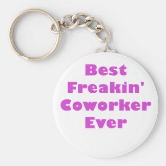 El mejor compañero de trabajo de Freakin nunca Llaveros