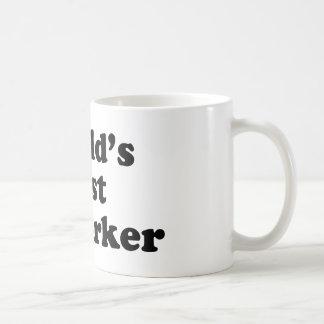 El mejor compañero de trabajo del mundo tazas de café
