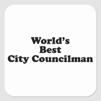 El mejor concejal del mundo calcomania cuadradas personalizada
