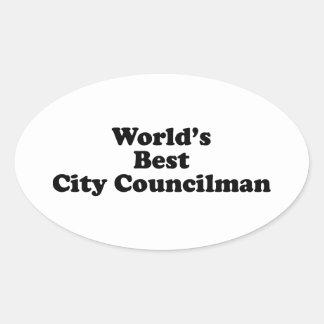 El mejor concejal del mundo pegatinas óvales