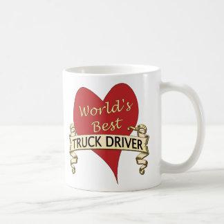 El mejor conductor de camión del mundo taza básica blanca