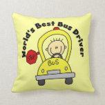 El mejor conductor del autobús del mundo almohadas