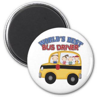 El mejor conductor del autobús del mundo imán redondo 5 cm