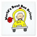 El mejor conductor del autobús del mundo invitacion personalizada