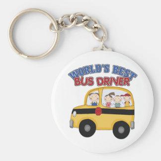 El mejor conductor del autobús del mundo llaveros personalizados