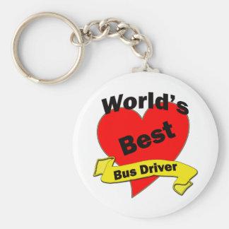El mejor conductor del autobús del mundo llavero redondo tipo pin