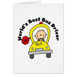 El mejor conductor del autobús del mundo tarjeta pequeña