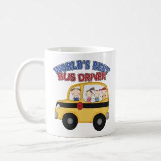 El mejor conductor del autobús del mundo taza básica blanca