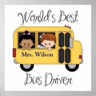 El mejor conductor del autobús escolar de los mund póster