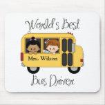 El mejor conductor del autobús escolar de los mund alfombrillas de ratón