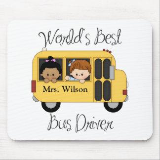 El mejor conductor del autobús escolar de los mund tapetes de ratones