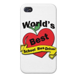 El mejor conductor del autobús escolar del mundo iPhone 4/4S fundas