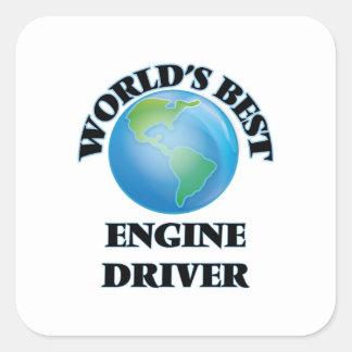El mejor conductor del motor del mundo pegatina cuadradas