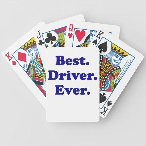 El mejor conductor nunca cartas de juego