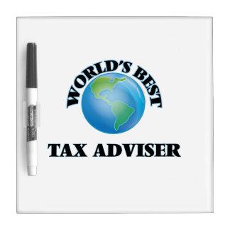 El mejor consejero del impuesto del mundo pizarra blanca