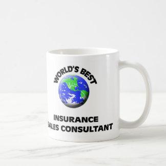 El mejor consultor de las ventas del seguro del taza básica blanca
