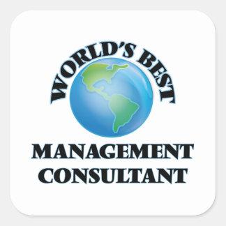 El mejor consultor en administración de empresas pegatina cuadrada