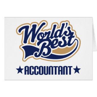 El mejor contable de los mundos felicitación