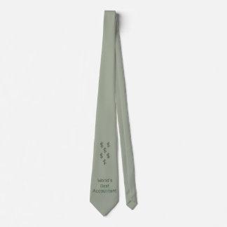 El mejor contable del mundo con las muestras de corbata