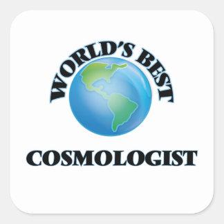 El mejor cosmólogo del mundo pegatina cuadrada