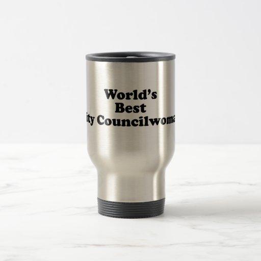 El mejor Councilwoman de la ciudad del mundo Taza De Viaje De Acero Inoxidable