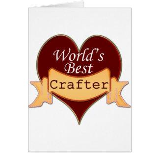 El mejor Crafter del mundo Tarjeta