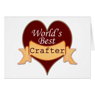 El mejor Crafter del mundo Tarjeton