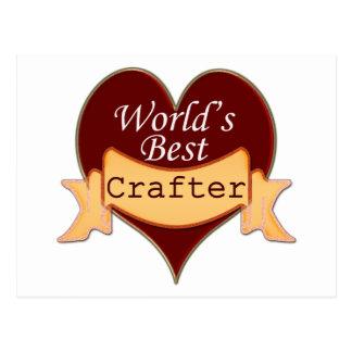 El mejor Crafter del mundo Tarjetas Postales