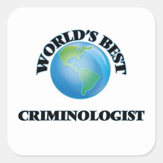 El mejor criminalista del mundo calcomanías cuadradass personalizadas