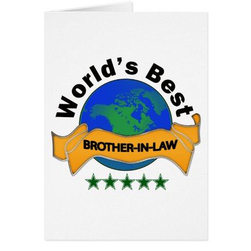 El mejor cuñado del mundo tarjeta de felicitación