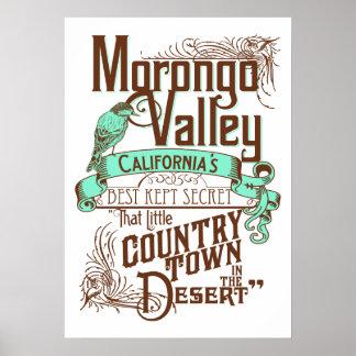 El mejor de California del valle de Morongo manten Posters