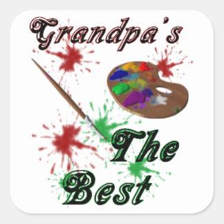 El mejor del abuelo pegatina cuadrada