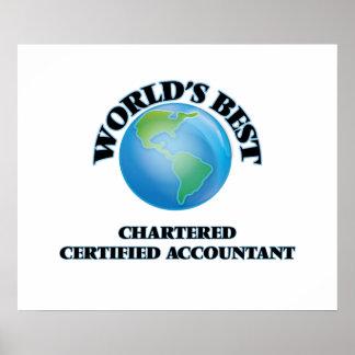El mejor del mundo cargó al contable certificado posters