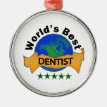 El mejor dentista del mundo ornaments para arbol de navidad