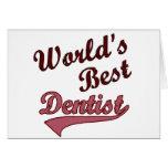 El mejor dentista del mundo tarjeta