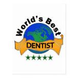 El mejor dentista del mundo tarjetas postales